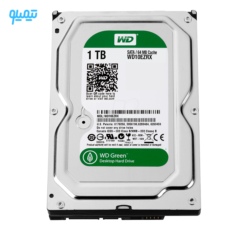 هارددیسک اینترنال وسترن دیجیتال سری سبز مدل WD5000AZRX ظرفیت 500 گیگابایت