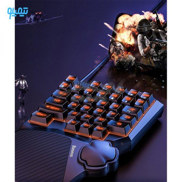 کیبورد گیمینگ بیسوس مدل GMGK01-01